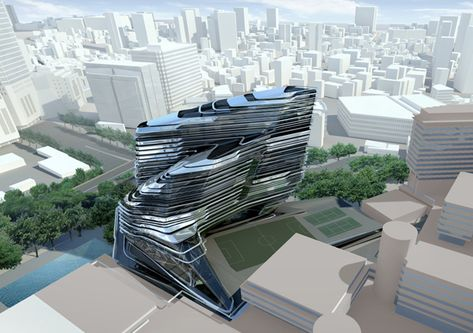 Zaha Hadid Architects, Zaha Hadid, Fluid Architecture, Hong Kong