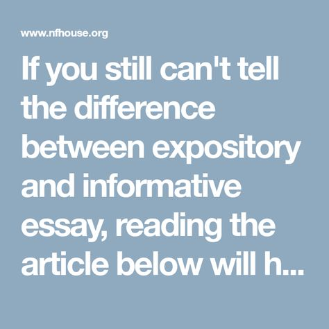 Expository VS Informative Essay: Difference and Comparison