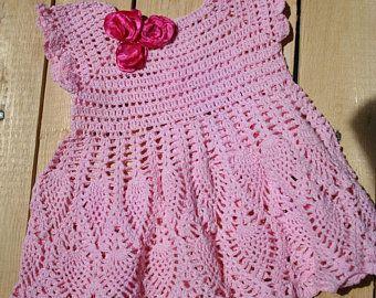Robe Bébé Au Crochet Vestidos Para Bebés Vestidos Y