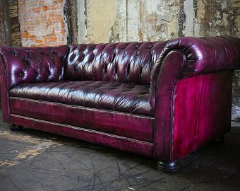 Chesterfield Sofa In Oxblood Purple Red Leather For Sale Now Red Leather Couches Red Leather Chesterfield Sofa Leather Couch Furniture