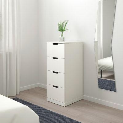 Nordli 4 Drawer Chest White 15 3 4x39 Ikea 34x39 4drawer Chest Ikea Nordli White In 2020 Ikea Nordli Drawers Ikea