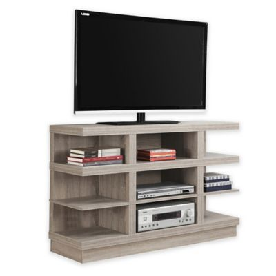 Monarch Specialties 48 9 Shelf Tv Stand In Tv Stand Wood Tv Stand Entertainment Room Design