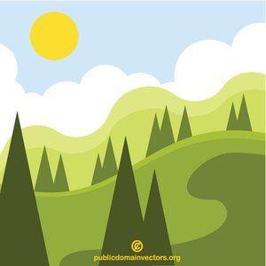 Publicdomainvectors Org Natural Park Landscape Park Landscape Natural Park Nature Vector