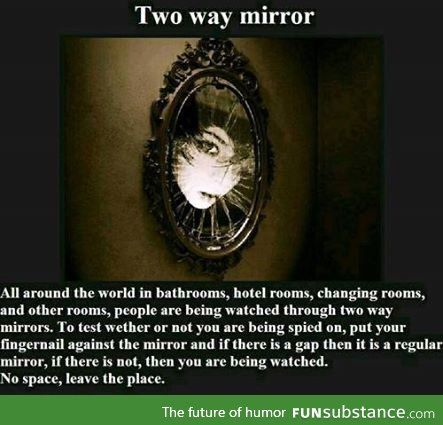 Creepypasta picture-story Two-way Mirror. Just so you know, this is actually true. If there isn't a gap, it is a two way mirror. Hopefully no demons though! Scary Horror Stories, Short Creepy Stories, Spooky Stories, Creepy Pasta Stories, Terrifying Stories, Paranormal Stories, Horror Art, Wow Facts, Wtf Fun Facts