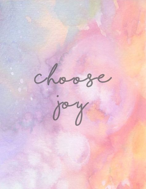 Choose Joy + Free Printable | It's Pam Del