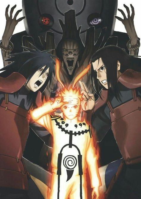 Obito, Madara, Naruto & Hashirama💎 | Naruto uzumaki ...