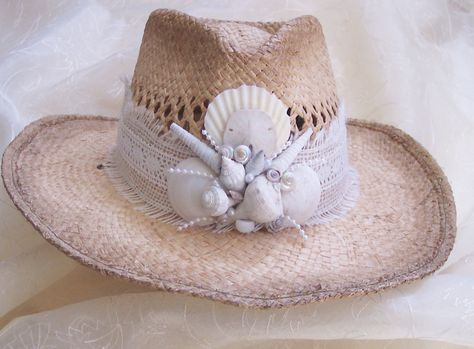 16f8494b Shell Sun Hat or Bridal Hat.Just add Tulle on the back!