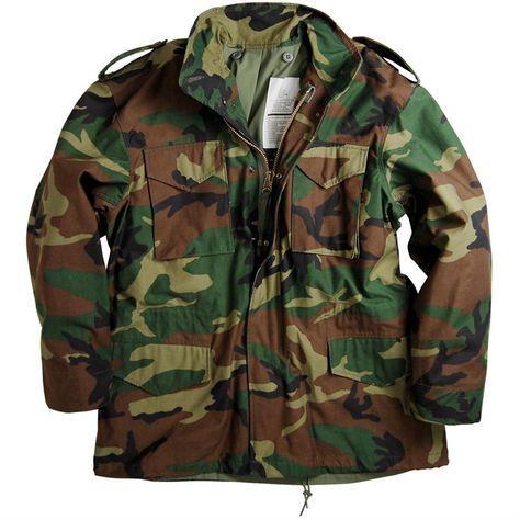 Mil-Tec US FELDJACKE M65 T//C M.FU.DARK CAMO Outdoorjacke Jacke