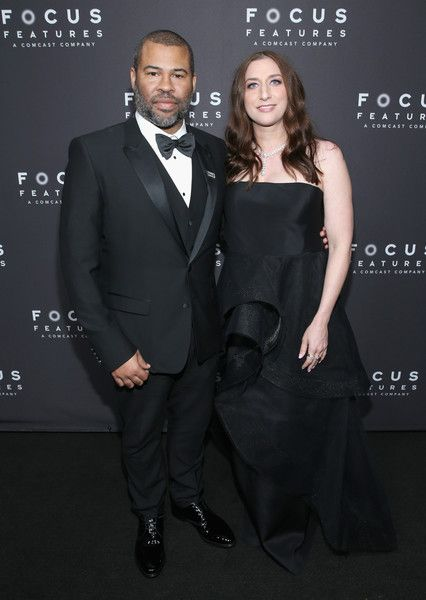 Jordan Peele and Chelsea Peretti attend Focus Features' Golden Globe Awards After Party.
