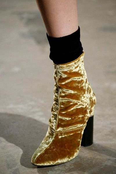 Velvet Booties - How to Spice Up Your Wardrobe with Maximalist Shoes  - Photos