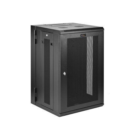 Startech Com 18u 19 Wall Mount Network Cabinet 16 Deep Hinged Locking Flexible It Data Equipment Rack Vented Switch Enclosure W Shelf Rack Enclosure Cabin In 2020 Network Cabinet Server Rack