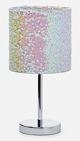 Iridescent Sequin Desk Lamp Unicorn Bedroom Decor Unicorn Room