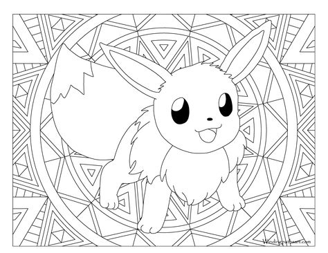 Elegant Image Of Eevee Evolutions Coloring Pages Pikachu