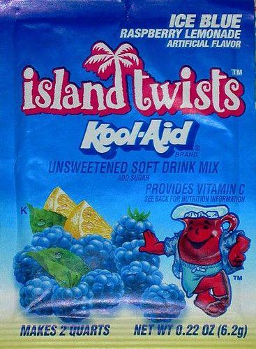 Island Twists Kool Aid Ice Blue Raspberry Lemonade Blue Raspberry Lemonade Kool Aid Raspberry Lemonade