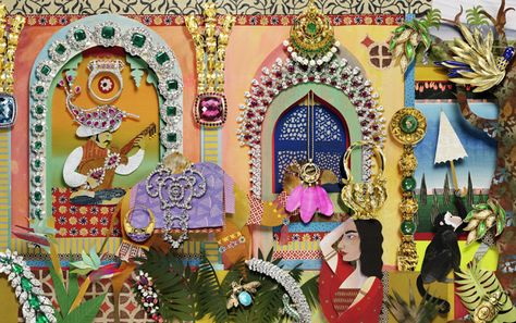 "jo lynn alcorn's ""indian jewels"" paper art"