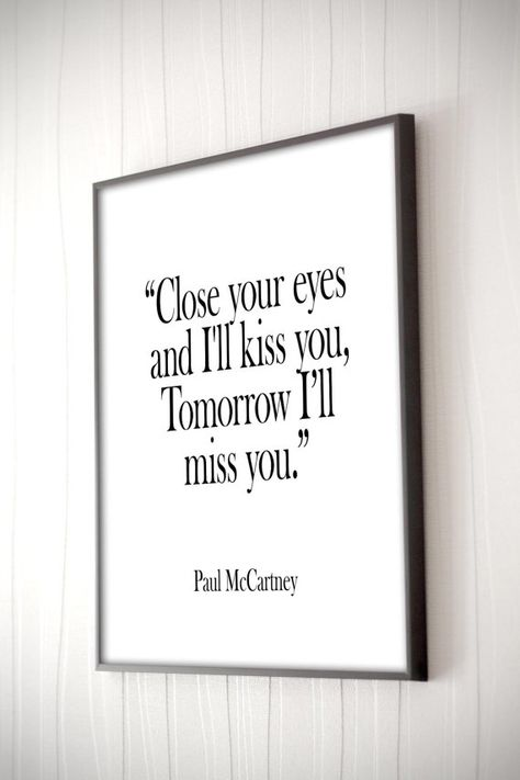 Paul McCartney song Lyrics, Romantic Art, Music Poster, Love Quote Print, Motivational Print, Typography, Anniversary Print, Beatles Lyrics