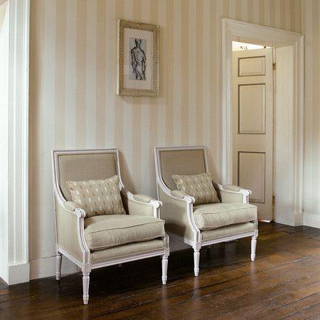 Linen Stripe Wallpaper Zpaw06003 Linen From Zoffany Striped Wallpaper Living Room Wallpaper Living Room Striped Wallpaper