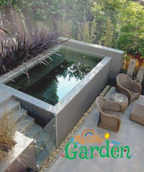 Belebende Gartengestaltung Mit Kleinem Tauchbecken Zum Entspannen Small Pool Design Small Backyard Pools Backyard Pool