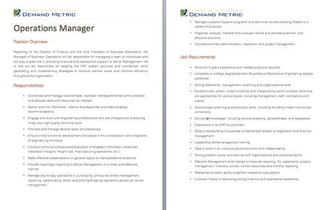 Operations mgr job description Job descriptions Pinterest - logistics specialist job description