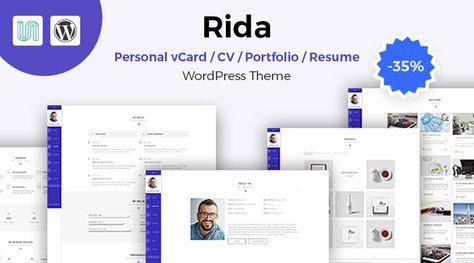 Meteor - Beautiful Portfolio and Resume WordPress Theme Grid - resume site