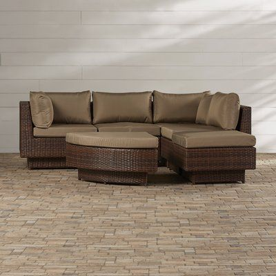 Brayden Studio Cournoyer 4 Piece Sectional Set With Cushions In 2019 Furniture Patio Seating Cushions
