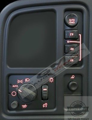 For Your Consideration Is Our Red Led Left Dash Switches Diy Upgrade Kit The Switches Are Not Included The Main Picture Is For Display Repair Led Switches