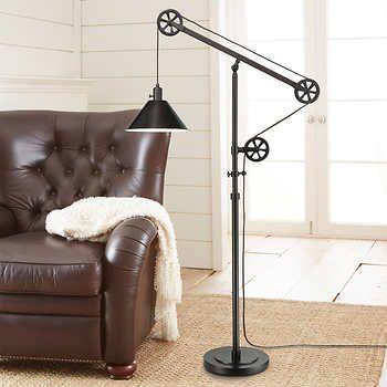 Piper Floor Lamp Pulley Floor Lamp Room Lamp