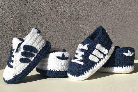 Zapatos zapatitos bebé crochet recién nacido, patucos talla
