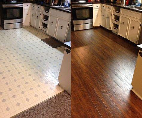 foto de Kitchen Upgrade! Before & After with Warm Springs Chestnut ...