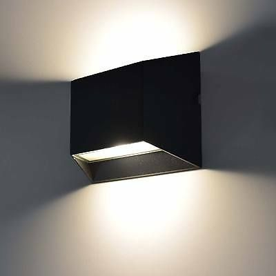 Details Zu Moderne Led Aussenleuchte Wandleuchte Aussenlampe Up Down Lampe Leuchte Schwarz Aussenlampe Led Wandleuchte Aussen Wandleuchte