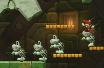 New Super Mario Bros U | Modding | Giant Dry Bones Conga