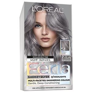 Multi Faceted Shimmering Permanent Hair Color In 2020 Silver