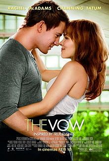 The Vow is a 2012 romantic drama film directed by Michael Sucsy, starring Rachel McAdams, Channing Tatum, Sam Neill, Scott Speedman and Jessica Lange. The film is based on the true story of Kim and Krickitt Carpenter. A newlywed couple recovers from a car accident that puts the wife in a coma. Waking up with severe memory loss, her husband endeavors to win her heart again. (C) Sony Pictures