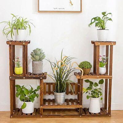 Wooden Plant Stand Indoor Outdoor Patio Garden Planter Flower Pot Stand Shelf Ebay Plant Stand Indoor Wooden Plant Stands Indoor Plant Stand