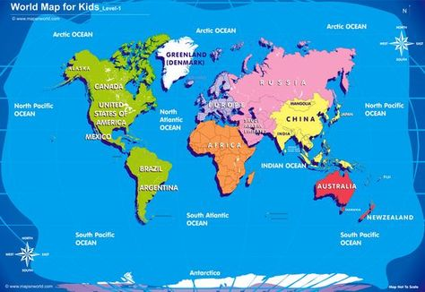 World Map For Kids Free World Map Royalty Free Zoom To Enlage View