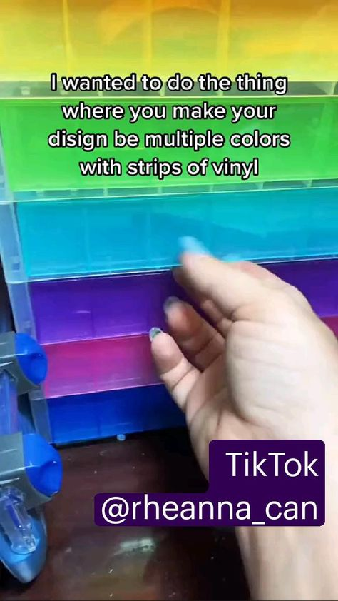 Cool Cricut Project - Cut multi-color designs using strips of your scrap vinyl