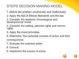Image result for asca ethical decision making model | ASCA