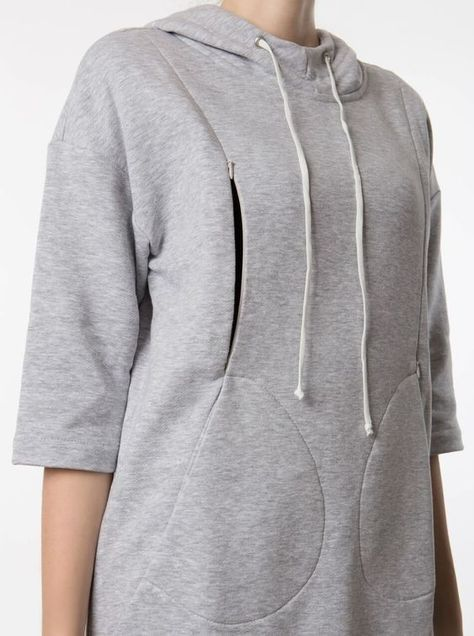Nursing Tunic, Nursing Tops, Sport Chic, Sport Casual, Feeding Dresses, Breastfeeding Clothes, Feminine Dress, Linen Dresses, Grey Sweatshirt
