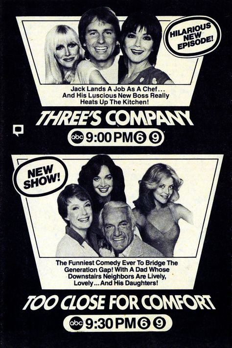 1980 ABC TV — Three's Company (1977-84) & Too Close for Comfort (1980-83)