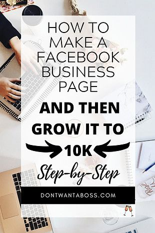 Make a Facebook Page - Don't Want a Boss