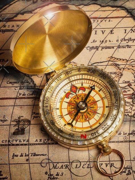 Follow Your Compass Graphic T Shirt By Johnnyssandart In 2020 Vintage Compass Compass Art Compass Tattoo