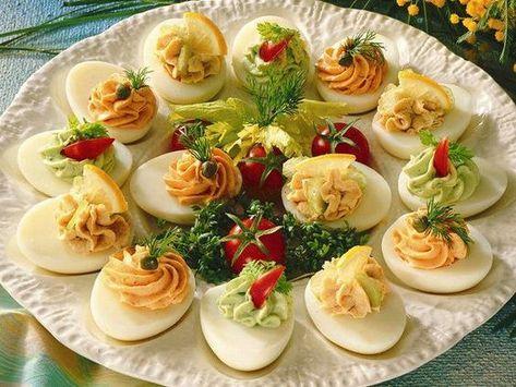 Für den Osterbrunch oder das Party-Buffet: Gefüllte Eier sind ein