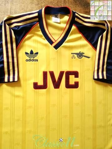 online store a85d1 745cb Official Adidas Arsenal away football shirt from the 1988/89 ...