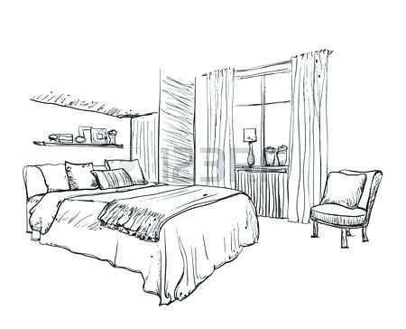 Interior Design Bedroom Drawing Interior Design Of The Classic