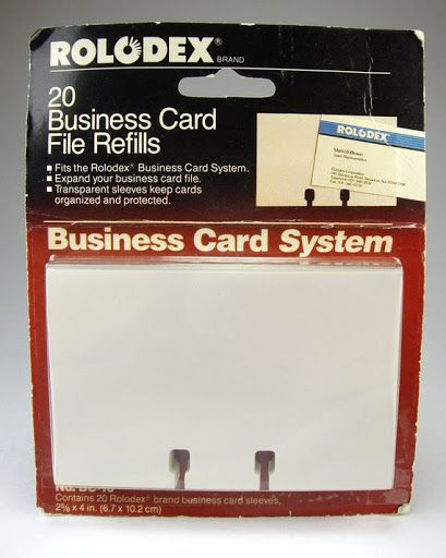 Rolodex Cards Cards Include Spaced Lines With Name Telephone Fax Number And Other Important Contact Information The Rolodex Card Files Business Card Holders