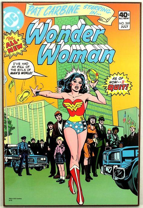 03a3bc63c DC Comics WONDER WOMAN  269 Pat Carbine Retro Wood Comic Cover Plaque Wall  Art  weboys10