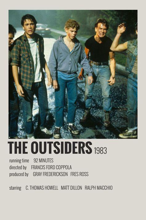 Alternative Minimalist Movie / Show Polaroid Poster – The Outsiders - Julia Junker