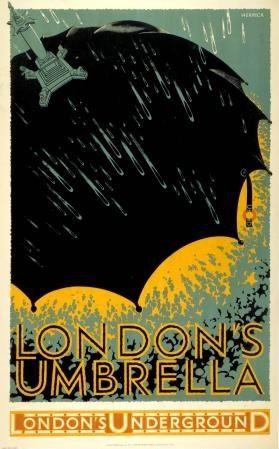 let it rain   london underground #design #illustration