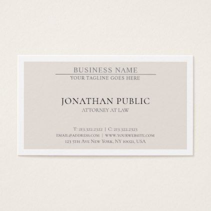 Trendy Attorney Law Office Lawyer Simple Elegant Business Card