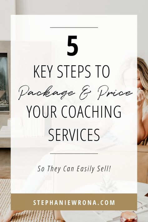 Selling coaching can be difficult if you do not package and price your services into an offer that y